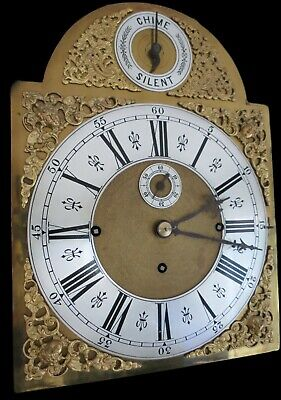 Antique Longcase Clock. Musical, 8 Bell, Marquetry on Mahogany. 3 Train. c1900