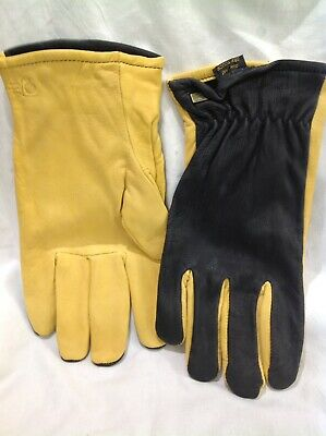 Gold Leaf Dry Touch Gloves GENTS FIT XL Mens Leather Gardening Gloves