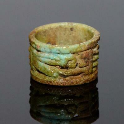 An Egyptian Faience Openwork Ring, 21st Dynasty, ca. 1069-945 BCE