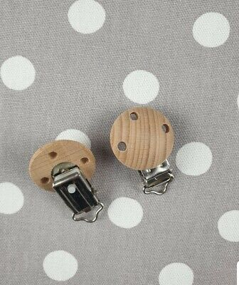 Natural Beech Wood Dummy Pacifier Clips Holder Baby Soother Buckle Making ×500