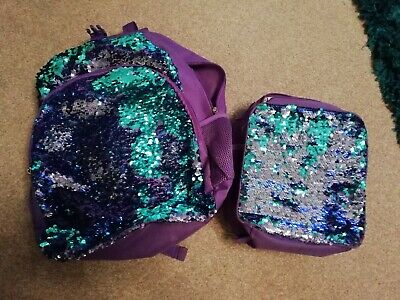 Sequin Bag & lunch Bag Set