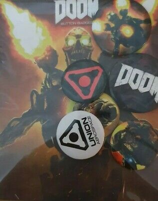 Brand new DOOM Pin button badge collectible geek mix pack nerd loot Crate zbox