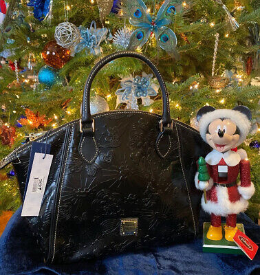 DOONEY & BOURKE DISNEY PARKS ICONS Black LEATHER SATCHEL Bag PURSE NEW With TAGS