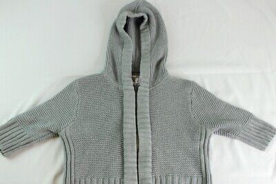Abercrombie & Fitch Girls Grey Hooded Zip Up Sweater Size Large