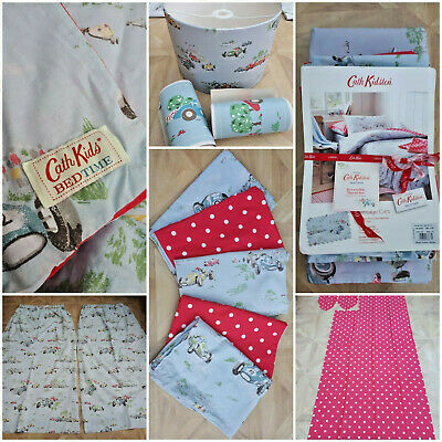 BEDROOM BUNDLE Cath Kidston DOUBLE Duvet Cover/Curtains/Pillowcases/Lampshade ++