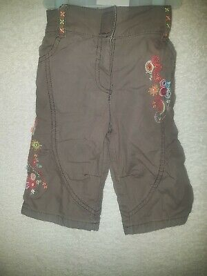 Baby Girl Age 3 To 6 Months Brown Trousers Next Good Quality Condition Lovely