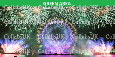 London New Years Eve Fireworks - December 2019 - GREEN Area X1 ENTRANCE 7