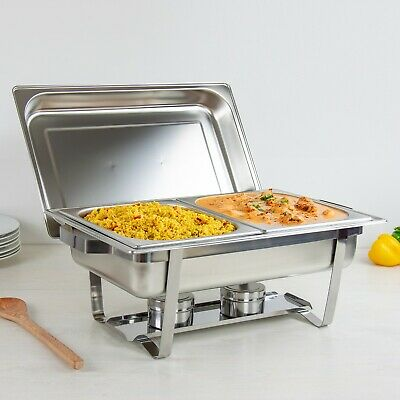 Stainless Steel Chafing Dish 13.5L With 2 Fuel Holders - Double Food Pan