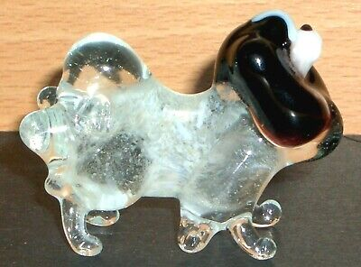 """Hand Made Blown """"Murano"""" Glass Collectable  Japanese Chin Dog  Figurine"""