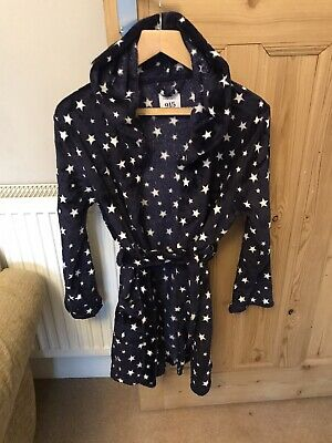 NEWLOOK Girls Teen Fleece Dressing Gown With Hood Size Large