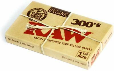 Raw RAW Organic 300 1.25 1 1/4 SZ Rolling Papers Pack = Leaves