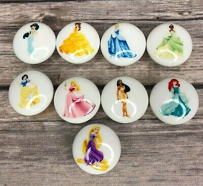 Disney Princess Ceramic Drawer Knobs Pulls Dresser Drawer Cabinet You Choose
