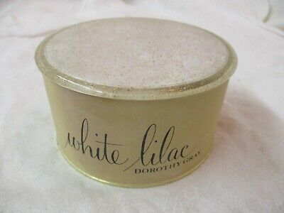 Vintage Dorothy Gray White Lilac Dusting Powder 4 1/2 oz 90% Full