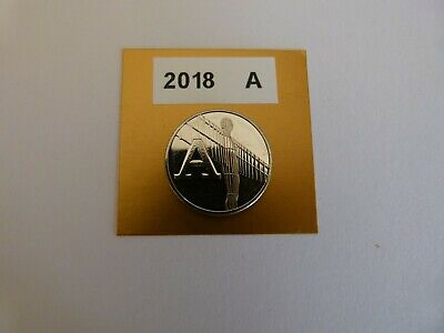 """a-z 10p Coin. Letter """"A"""" 2018. Uncirculated. Angel of the North.Very Scarce."""