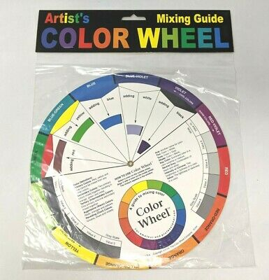New and Sealed Full Size Artist's Color Wheel Mixing Guide Craft Art Tool SS19