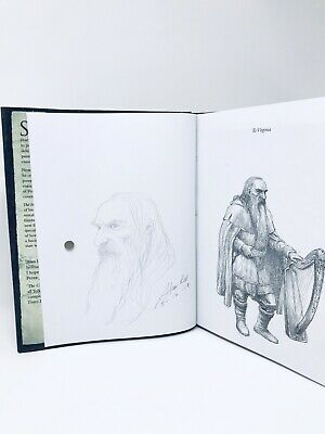 The Hobbit Sketchbook + Full page Drawing (Gandalf) SIGNED & Dated by Alan Lee