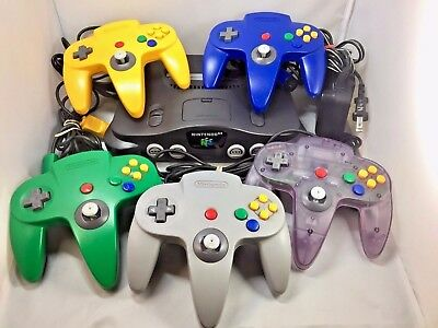 N64 Nintendo 64 Console System + Controller + Cords + Cleaned And Tested