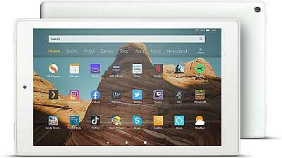 """All-new 2019 Amazon Fire HD 10 Tablet  10.1"""" Full HD Alexa Hands Free 32GB White"""