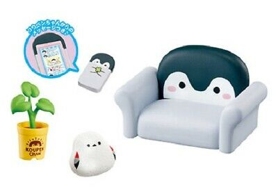 Re-Ment Miniature Koupen Chan Penguin Room Furniture rement 750YEN Full set of 8