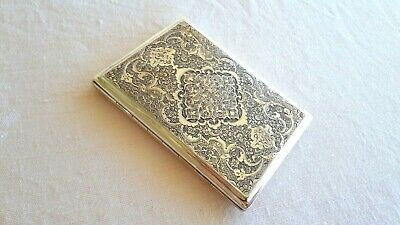 Luxury vintage Sterling Silver Cigarette case engraved Big & heavy Hallmarked