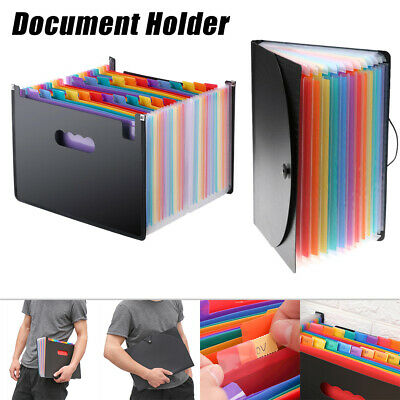 Expanding Document Holder File Classify Filing Box Self Standing Briefcase