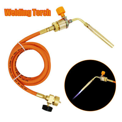 Gas Ignition Plumbing Turbo Torch W/ Hose Solder Propane Copper Welding Tool