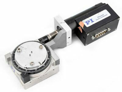 PI Physik Instrumente M-037.00 Rotation Stage w/Worm Gear Drive Assembly