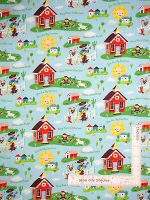 NURSEY RHYMES 24586 Windham Prints  100/% COTTON FABRIC  priced by the 1//2 yard