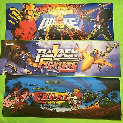 Original (3) Pack Arcade Marquees (Dynamite Duke, Raiden Fighters & Cabal)