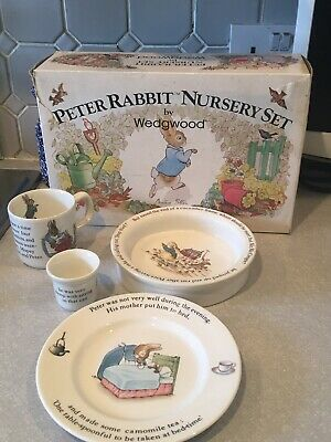 Vintage Peter Rabbit Nursery Feeding Set By Wedgwood