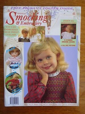 Australian Smocking & Embroidery Magazine Issue 21 Winter 1992