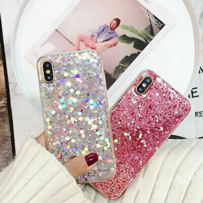 Bling Glitter Clear Soft Gel Phone Case Cover For iPhone 11 Pro Xs Xr 8 7 Plus 6