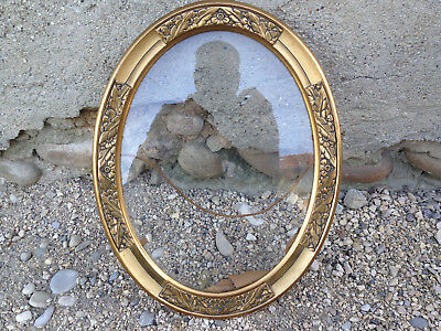 Antique Photo Frame Oval Vintage Wooden Carved Golden French Antique Frame