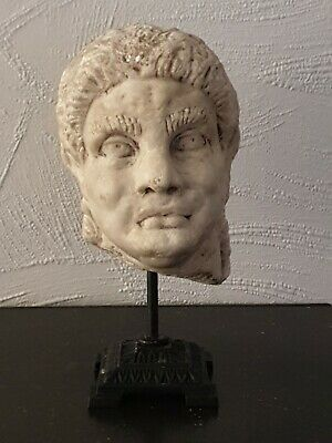 Stunning Roman 2nd-3rd century Massive  Marble head of a male mounted
