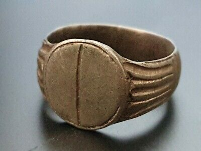 Ancient large Roman Silver female fertility  ring 1st Century AD 9 grams