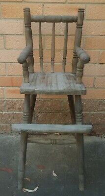 🍭 VINTAGE  / Antique High Chair. Great as a Baby Doll Chair