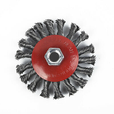 4 Metal Wire Wheel Cup Brush Crimped For Die Grinder Drill Angle Grinder