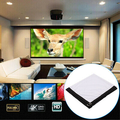 60 Inch Projector Screen Movie Screen Projection Curtain School Foldable Video