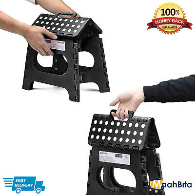 Folding Step Stool Heavy Duty Plastic Multi-Purpose Seat Home Kitchen Store