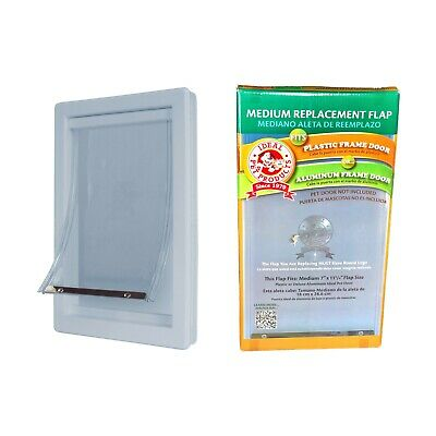 Ideal Pet Door Medium Replacement Flap for Small Cats Dogs for Patio Door Entry