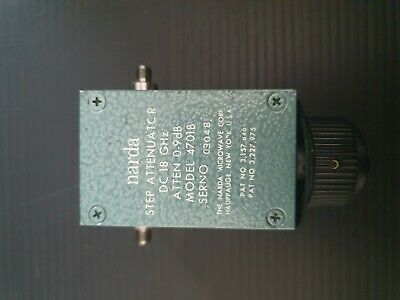 Narda 4701B step attenuator DC-18GHz 0-9dB