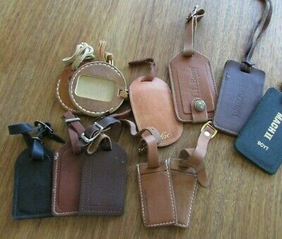 Assorted Leather Name Tags