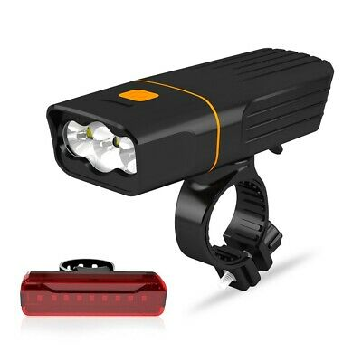 Rechargeable 15000LM CREE XML T6 LED MTB Bicycle Bike Light Front Rear Headlight