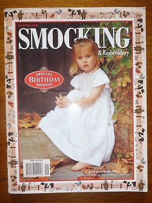 Australian Smocking & Embroidery Magazine Issue 29 Winter 1994 Birthday Edition