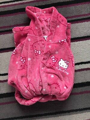 Marks And Spencer Hello Kitty Girls Dressing Gown Age 7-8 Years
