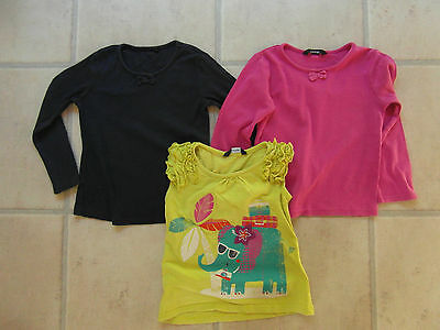 SET OF 3  TOPS AGE 3 - 4 YEARS, from GEORGE, 2 LONG SLEEVED & 1 CAP SLEEVE TOP