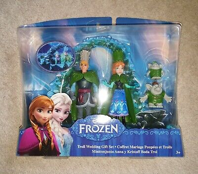 Brand New Disney FROZEN Troll Wedding Gift set - Anna and Kristoff. Age 3+