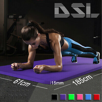 161x 185cm Yoga Mat 15mm Thick Gym Exercise Fitness Pilates Workout Mat Non Slip