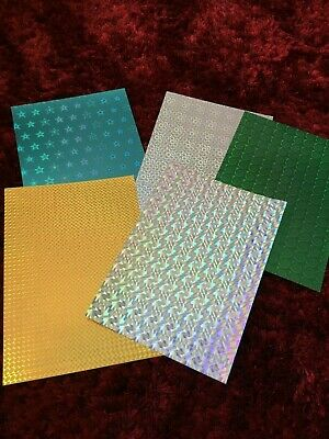 CREATIVE FUN 16Pc Cardmaking Holographic Card Thick//Bright//Shiny//Mirror Paper