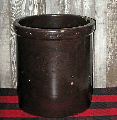 Vtg 1 gallon Minnesota Stoneware crock Red Wing MN stoneware antique Red/Brown